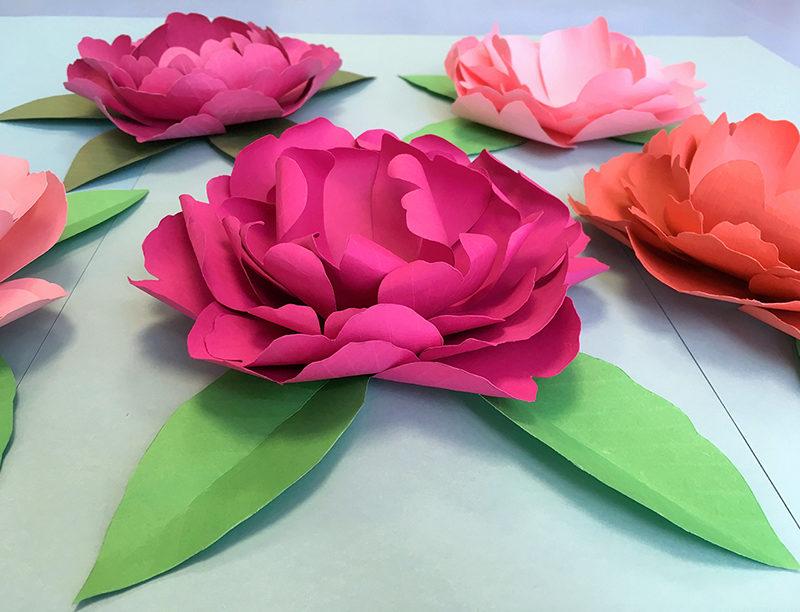 Atelier DIY Pivoine en kirigami !