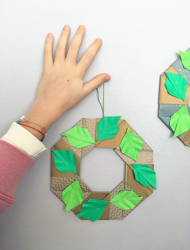 Atelier décorations de Noël en origami