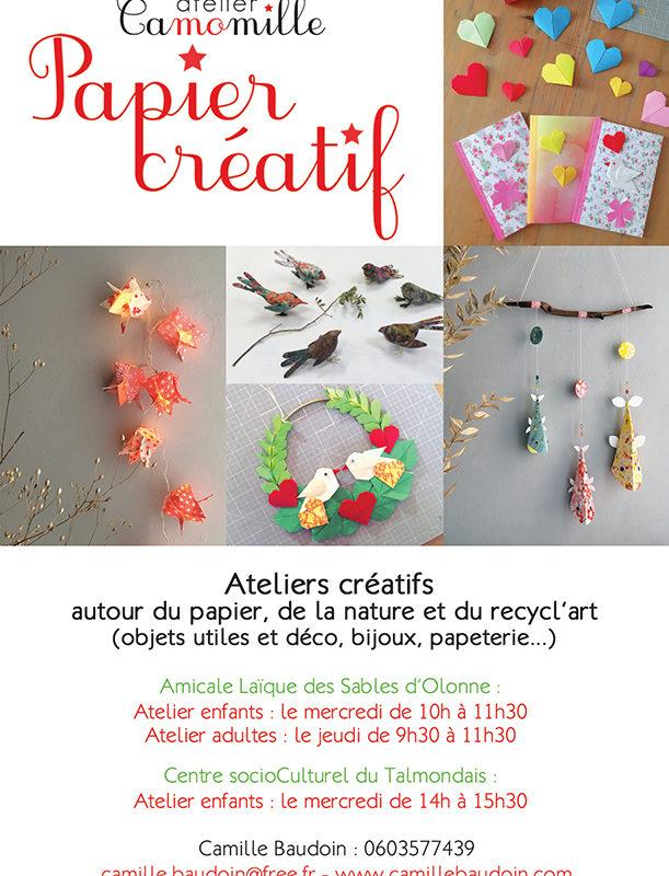 Inscriptions atelier Papier Créatif !