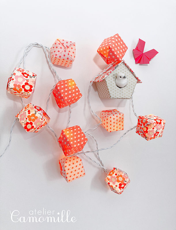 Guirlande lumineuse cubes avec prise