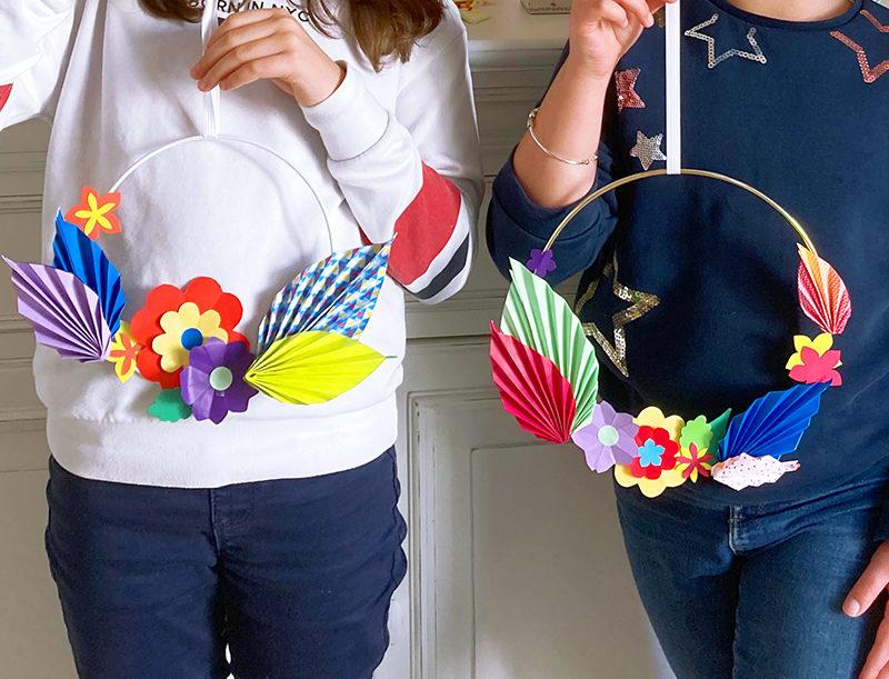 Atelier couronne florale en origami !